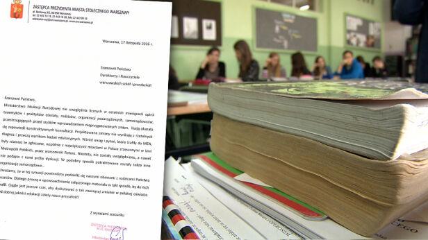 Wiceprezydent apeluje ws. reformy edukacji archiwum TVN