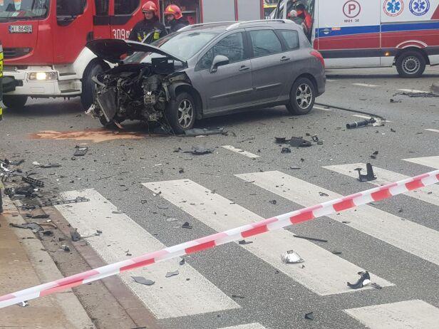 Kolizja na Puławskiej i Malczewskiego Lech Marcinczak / tvnwarszawa.pl