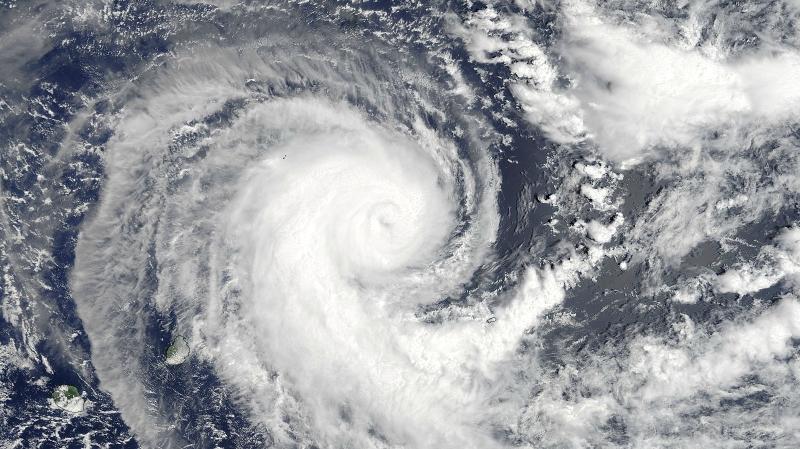 Zdjęcie satelitarne cyklonu Berguitta  z 16 stycznia (NASA)
