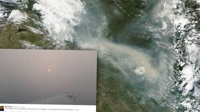 Intrygujące zachody słońca w USA. <br />Wszystko przez... pożary w Kanadzie