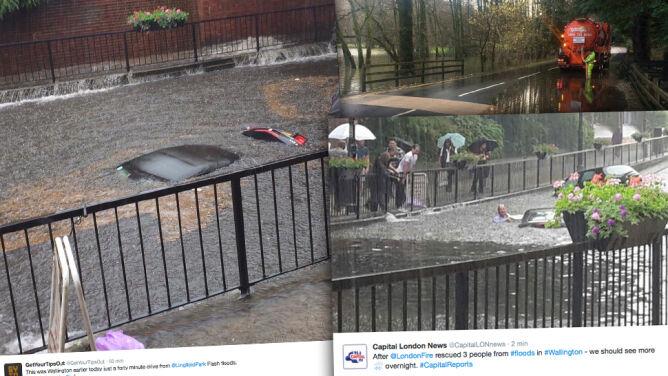 Podtopienia w Londynie. W godzinę <br />spadło 35 litrów deszczu