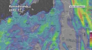 Prognozowane opady w ciągu kolejnych dni (Ventusky)